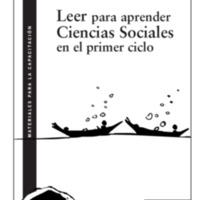 Leer para aprender Ciencias Sociales en el primer ciclo