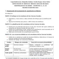 CAPACITACIÓN EN SERVICIO- ÁREA DE CIENCIAS SOCIALES MAESTROS/AS DE 5to GRADO – DISTRITOS 11, 17, 20