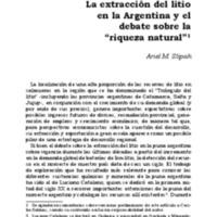 La extracción del litio en la Argentina y el debate sobre la riqueza natural