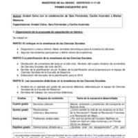 CAPACITACIÓN EN SERVICIO-ÁREA DE CIENCIAS SOCIALES MAESTROS DE 6° GRADO - DISTRITO 11-17-20 PRIMER ENCUENTRO 2018